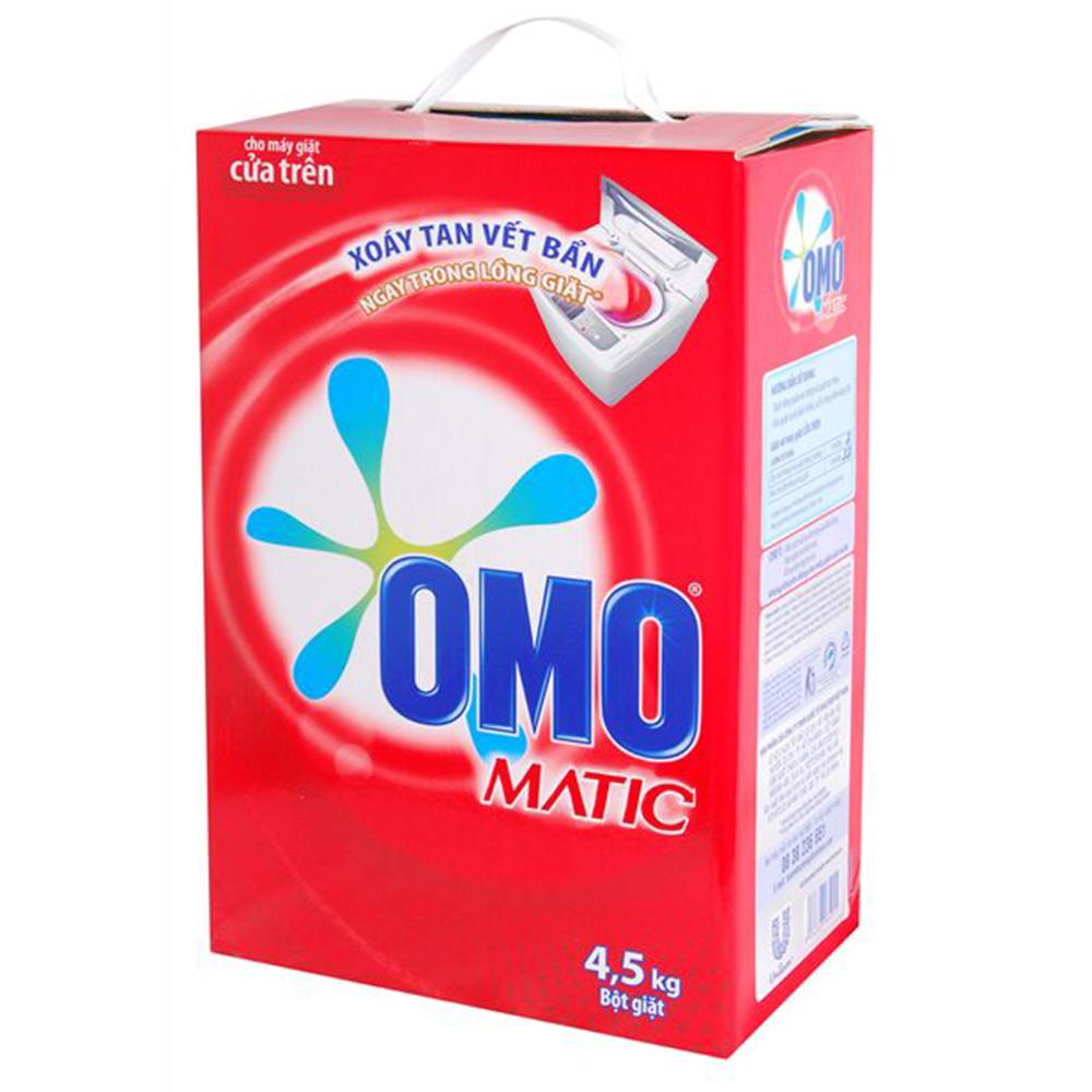 Bột giặt Omo máy giặt cửa trên 4.5kg