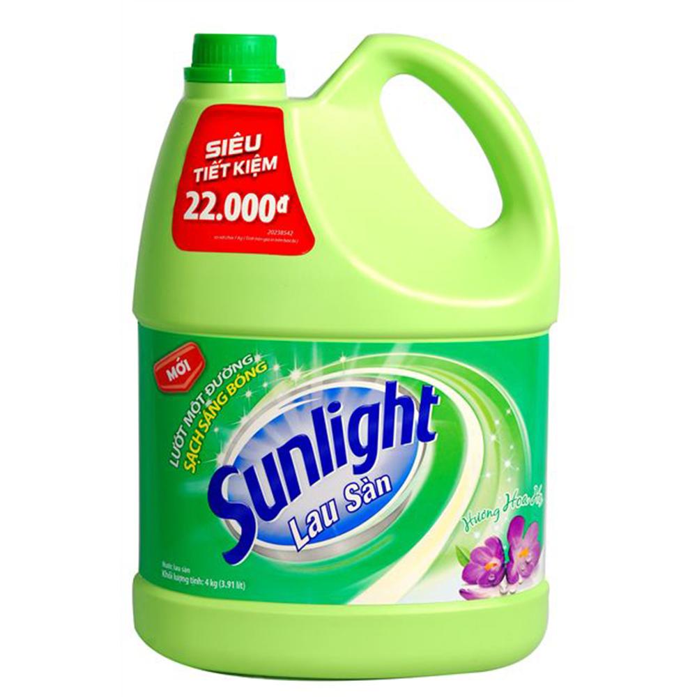 Nước lau sàn sunlight hoa hạ 4kg