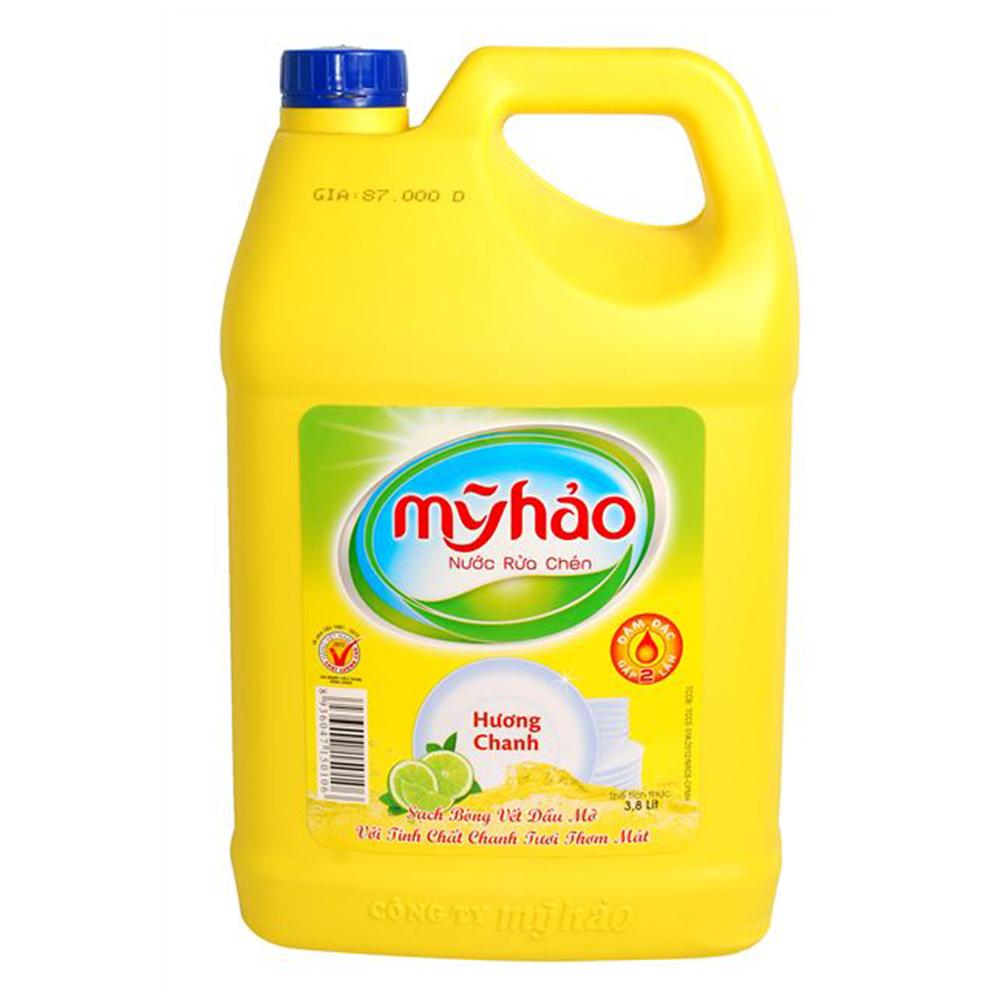 Nước rửa chén Mỹ Hảo hương chanh 3.8L