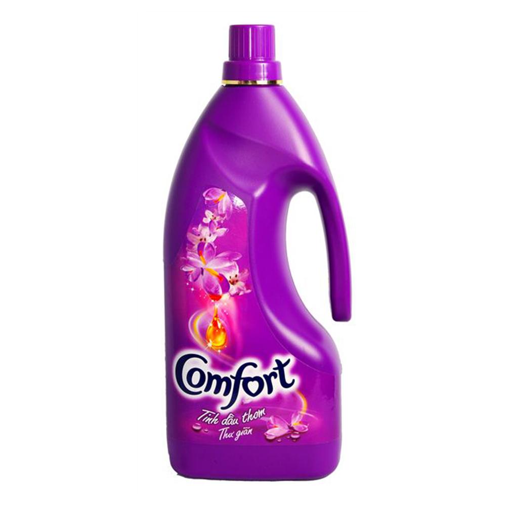 Nước xả comfor 1 lần xả tinh dầu thơm thư giãn 1.8l (tím)
