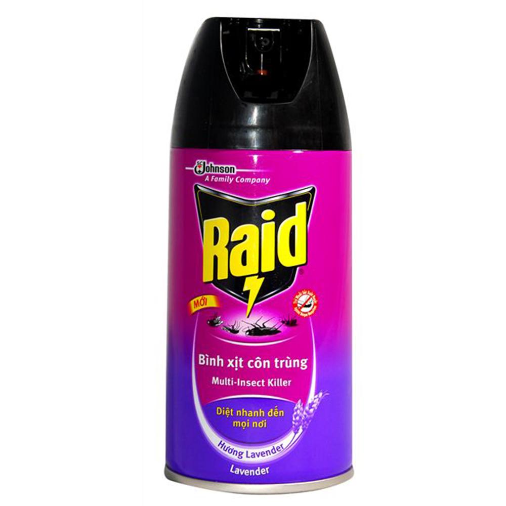 Xịt công trùng Raid Maxs lavender 300ml