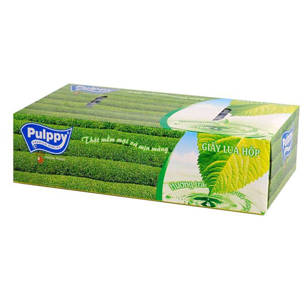 Khăn giấy hộp puply trà xanh