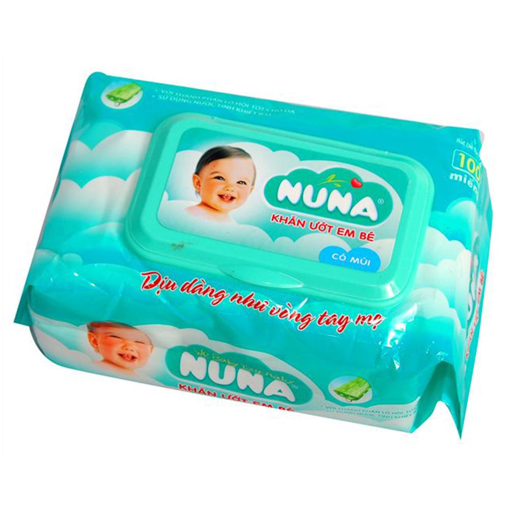 Khăn ướt em bé Nuna 100 miếng