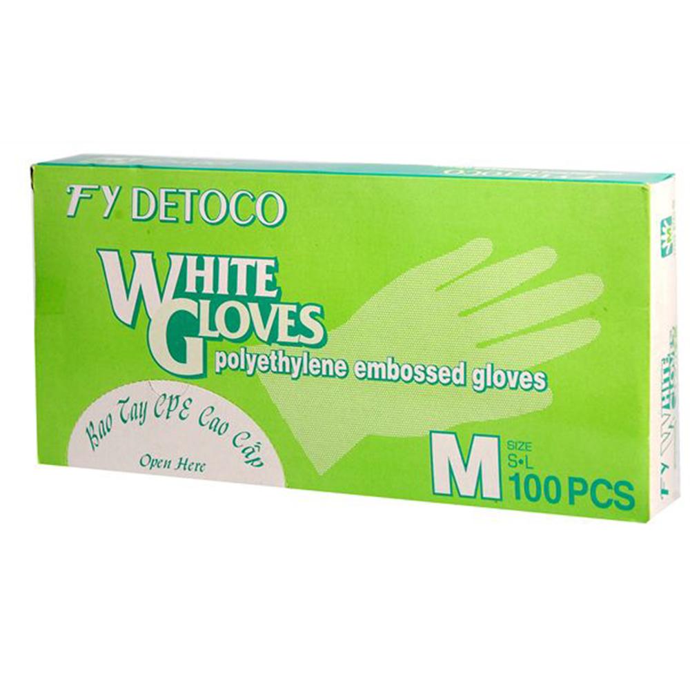 Bao tay nilon white size M